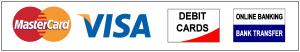 MasterCard | Visa | Debit Cards | Bank Transfer